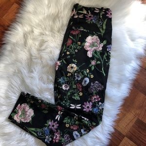 H&M black floral dress prints SZ 8